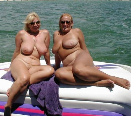 mom naked on boat