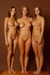 mom and her daughters pose nude