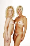 mom-daughter pose nude