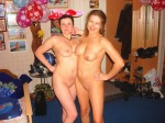 mom+daughter pose nude 2
